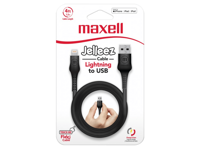 Maxell USB - LIGHTNING JELLEZ CABLE 1,2m  Black