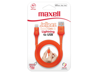 Maxell USB - LIGHTNING JELLEZ CABLE 1,2m  Orange