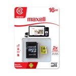 Maxell Micro SDHC 16GB Class 10+ adapter (yellow)
