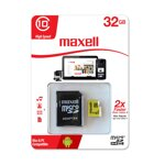 Maxell Micro SDHC 32GB Class 10+ adapter  (yellow)