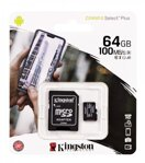 Kingston Micro SDHC 64GB Canvas Select Plus A1 100MB/s CL10 Card + SD Adapter