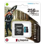 Kingston 256GB microSD Class Canvas Go! Plus A2 U3V30 170MB/s + adapter