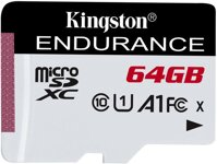Kingston micro SDXC 64GB  Endurance CL10 A1 95R/45W bez adapteru