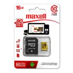 Maxell Micro SDHC 16GB Class 10 Yellow+ adapter