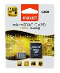 Maxell Micro SDHC 64GB Class 10+ adapter