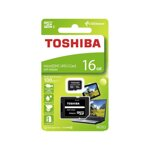 Toshiba Micro SDHC 16GB Exceria+ adapter 100MB/s