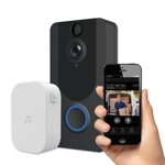 PLATINET VIDEO DOORBELL BLACK 1080p CAMERA WIFI OPTICAL SENSOR RESOLUTION 2mpx [45089]