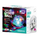 OMEGA MAGIC DISCO BALL COLOURFUL LIGHT 4W USB TO MICRO