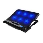 OMEGA LAPTOP COOLER PAD COOLWAVE 6X FAN BLACK