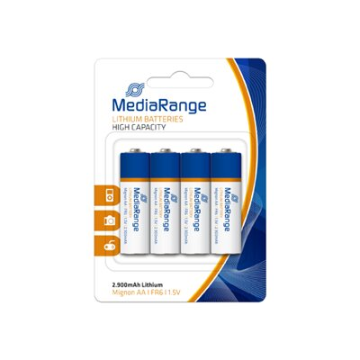 Mediarange Battery Lithium AA FR6 Blister 4PK