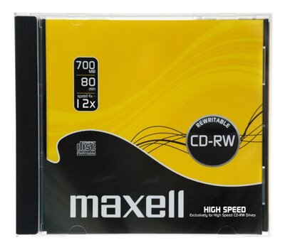 Maxell CD-RW 12x Audio Jewel Case