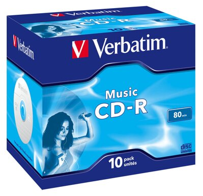 Verbatim CD-R Audio Jewel Case 10