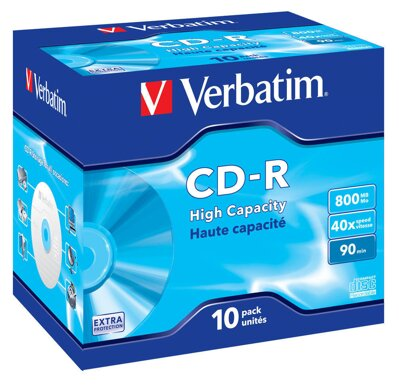 Verbatim CD-R 52X 800MB 90 min Jewel Case 10