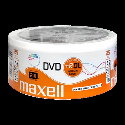 Maxell DVD+DL 8x 8,5GB Printable Shrink 25
