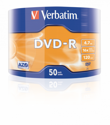 Verbatim DVD-R 16x 4,7GB shrink  50