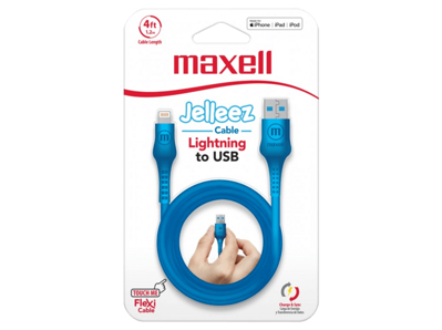 Maxell USB - LIGHTNING JELLEZ CABLE 1,2m  Blue