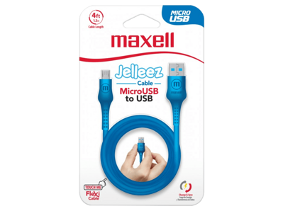 Maxell MICRO USB JELLEZ CABLE 1,2m  Blue