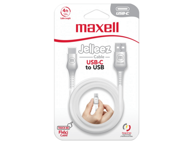 Maxell USB TO USB C JELLEEZ CABLE 1,2m  White