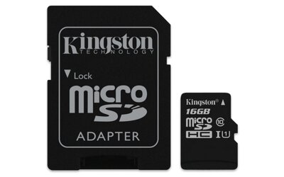 Kingston Micro SDHC 16GB Canvas Select 80R+adapter