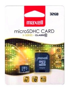 Maxell Micro SDHC 32GB Class 10+ adapter