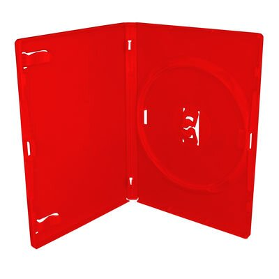 DVD-Box 14mm Single Red Amaray