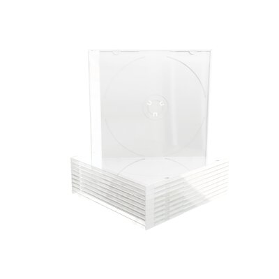 MediaRange CD-Box 5,2 mm Single White tray