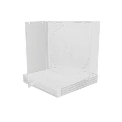 Mediarange CD-Box 10.4 mm Double Clear tray *5Pack