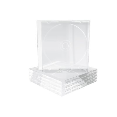 Mediarange CD-Box 10,4 mm Single Clear tray *5Pack