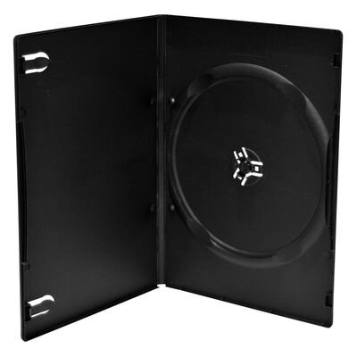 DVD case 7mm SINGLE black 10Pack