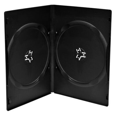 DVD case 9mm DOUBLE black 10Pack
