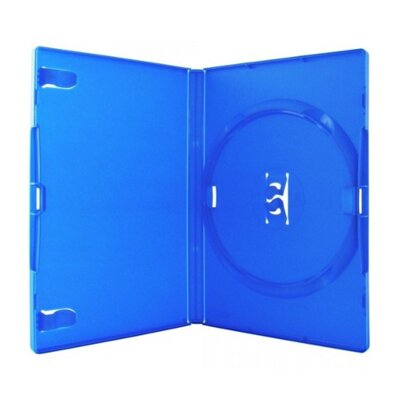 DVD-BOX 14mm Single Amaray Blue