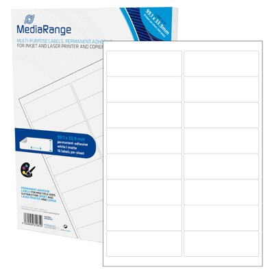 Mediarange Multi-purpose labels 99,1x33,9mm White