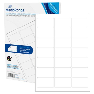 Mediarange Multi-purpose labels 63,5x38,1mm White