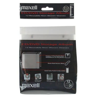 Maxell CD/DVD Ring Binder 12x2 Shets
