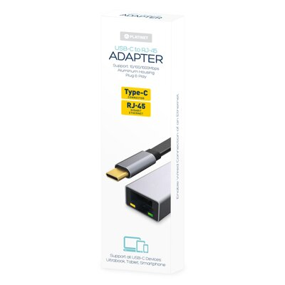 Platinet MULTIMEDIA ADAPTER Type-C to RJ45 1000Mb
