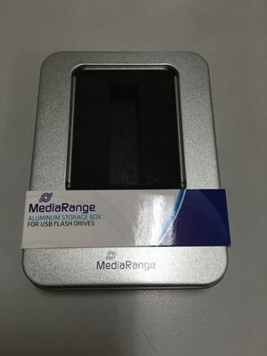 MediaRange Aluminum storage box, for USB flash drives, silver