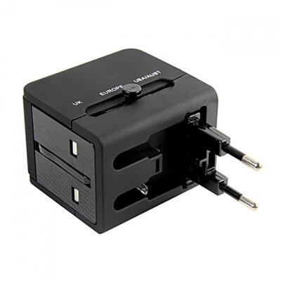 Cliptec Universal Travelling Plug Adaptor With USB