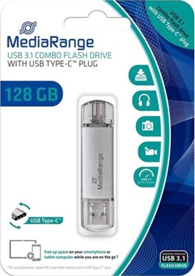 MediaRange USB 3.0 combo flash drive  USB 128GB Type-C