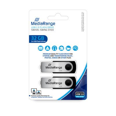 Mediarange USB 32GB 2.0 Pack 2
