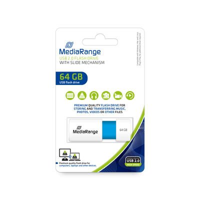 Mediarange USB 64GB Light Blue 2.0