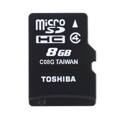 Toshiba Micro SDHC 8GB CL4 + adapter