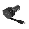 Platinet CAR CHARGER ROLLING CABLE 2.4A microUSB