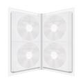 MediaRange Folder for 48 discs, White/Clear