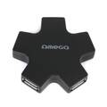 Omega USB 2.0 HUB 4 Port Star Black
